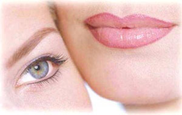 cejas ojos y labios